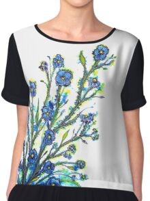 Forget-Me-Not - Flowers Chiffon Top