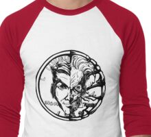 Harvey Dent/Two-Face Illustration Men's Baseball ¾ T-Shirt