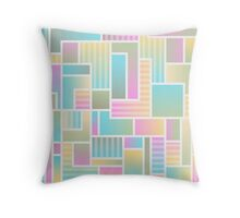 Pastel Colorful Block Pattern Throw Pillow