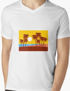 Summer Mens V-Neck T-Shirt