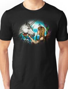 Fairy and Unicorn in Color Unisex T-Shirt
