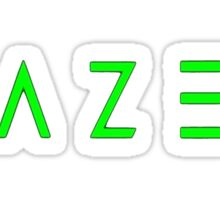 Razer Logo | Text Modern Sticker