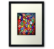 Agate Slice Art Piece Saturated - Print Framed Print