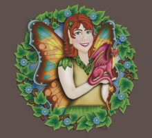 A Fairy and Her Dragon Baby Tee