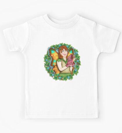 A Fairy and Her Dragon Kids Tee