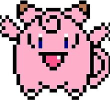 8 bit Clefairy by rembraushughs
