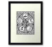 Big Bang Theory: Rock Paper Scissors Lizard Spock Framed Print