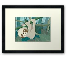 Hang in There, Little Sloth Framed Print
