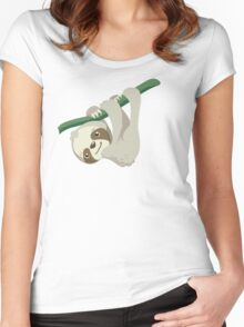 Hang in There, Little Sloth Women's Fitted Scoop T-Shirt