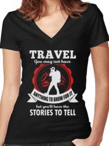 Travel Women's Fitted V-Neck T-Shirt