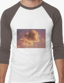 cloudy sky heart Men's Baseball ¾ T-Shirt