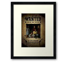Buffy Scooby Gang Wanted Framed Print
