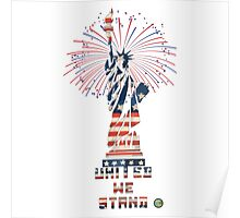 Fireworks at Liberty Poster