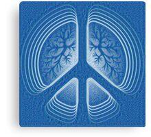 Blue Hippy Peace Sign Canvas Print