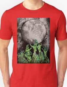 zombie hands under moonlight Unisex T-Shirt