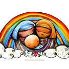 Christmas Rainbows Nativity  by © Karin (Cassidy) Taylor