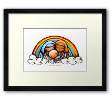 Christmas Rainbows Nativity  Framed Print
