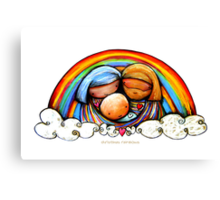 Christmas Rainbows Nativity  Canvas Print
