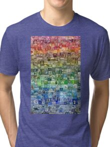 Stamps of the World Tri-blend T-Shirt