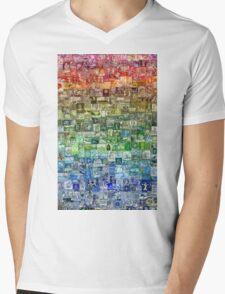 Stamps of the World Mens V-Neck T-Shirt