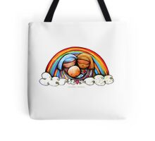 Christmas Rainbows Nativity  Tote Bag
