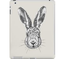 Hare Portrait Ink Drawing iPad Case/Skin