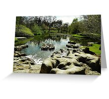 Irish Japanese garden Greeting Card