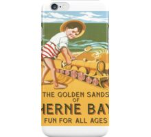 Golden Sands of Herne Bay, Fun for all Ages iPhone Case/Skin