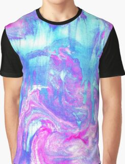 Melting Marble in Pink & Turquoise Graphic T-Shirt