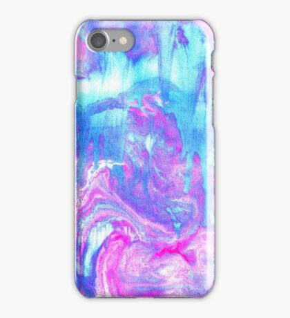 Melting Marble in Pink & Turquoise iPhone Case/Skin
