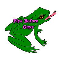 flys before guys frog Photographic Print