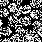 Black and White Flowers by Greenbaby