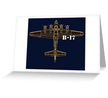 b 17 Greeting Card