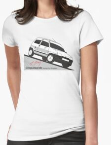 Fiat Cinquecento by Giugiaro Womens Fitted T-Shirt
