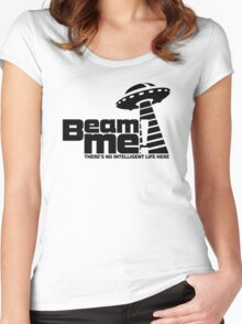 Beam me up V.3.2 (black) Women's Fitted Scoop T-Shirt