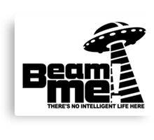 Beam me up V.3.2 (black) Canvas Print