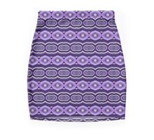Purple Bubble Stripes Mini Skirt