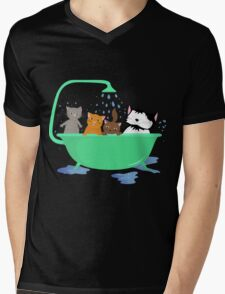 Cats in bath Mens V-Neck T-Shirt