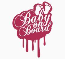 Baby On Board Girl Graffiti Stamp T-Shirt