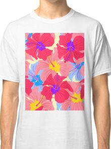 pattern with hibiscus  Classic T-Shirt