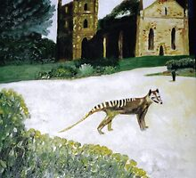 Thylacine at Port Arthur by Julie Diana Lawless