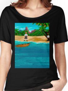 MONKEY ISLAND BEACH Women's Relaxed Fit T-Shirt