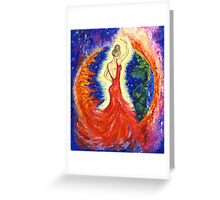 Dancing between two worlds Greeting Card