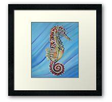 """Delicate Seahorse"" Framed Print"