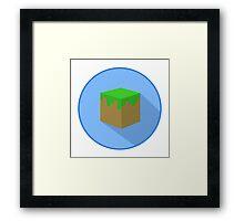 Grass Block Framed Print