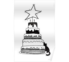 Cat-a-cake Poster