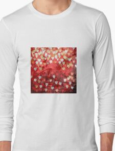 Hearts background Long Sleeve T-Shirt