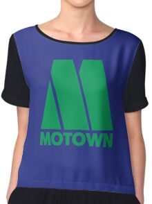 MOTOWN DISCO RECORDS (GREEN) Chiffon Top