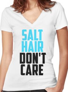 SALT HAIR DONT CARE Women's Fitted V-Neck T-Shirt
