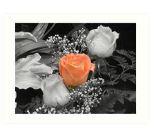 Beauty among the Roses Art Print